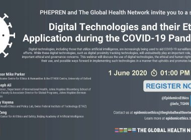 Digital Technologies and their Ethical Application during the COVID-19 Pandemic